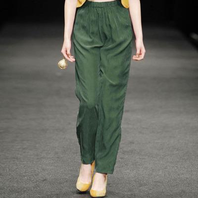 2021夏新款铜氨丝裤子显瘦宽松大码重磅真丝女裤哈伦裤休闲裤长裤