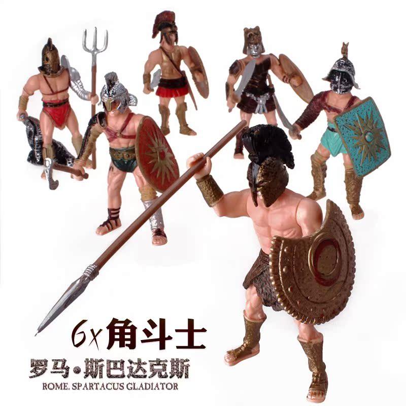 新款儿童军事士兵美国大兵人特种兵古代罗马战士魔兽关节可动人偶