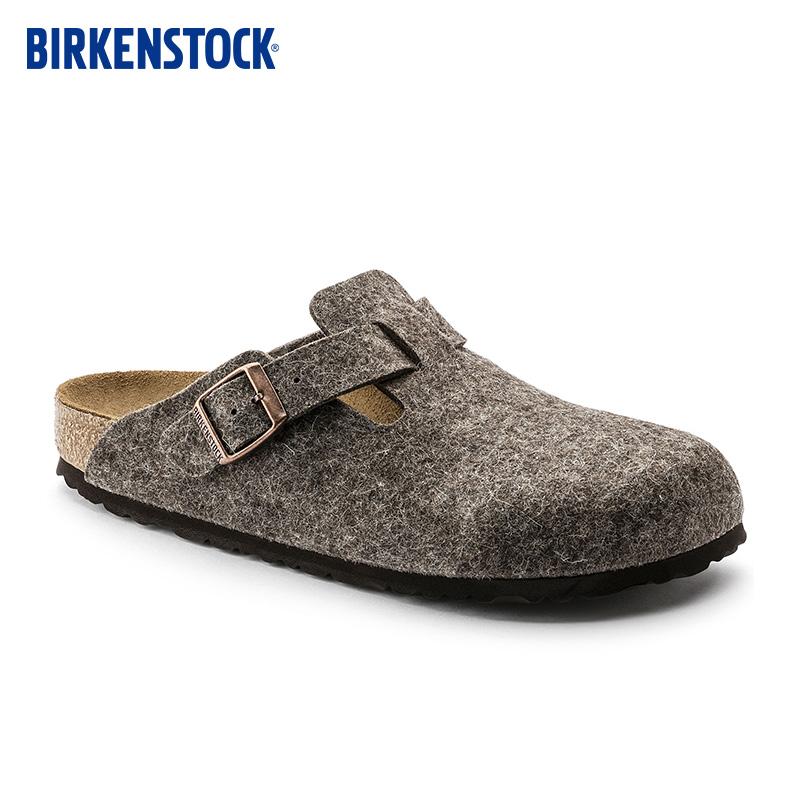 BIRKENSTOCK秋冬羊毛毡德国软木时尚拖鞋女Boston系列