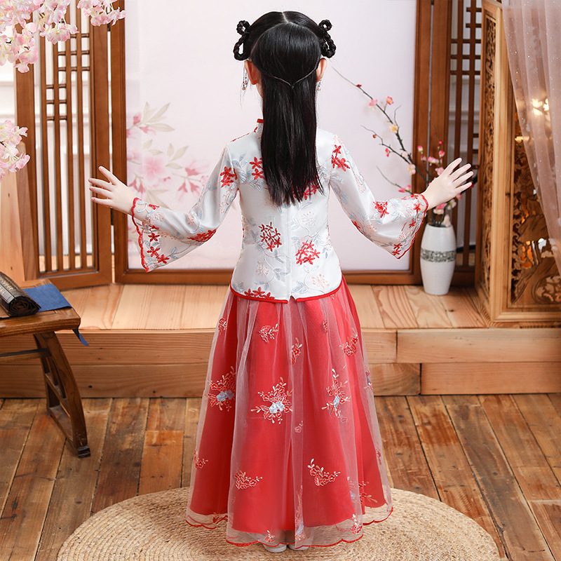 . Infant and toddler clothing, ancient style, girl's clothing, hanfu, summer fairy, Chinese style skirt