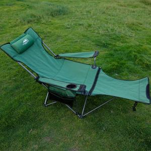 户外折叠椅躺椅午睡午休床便携式野外露营靠背钓鱼椅坐躺两用椅床