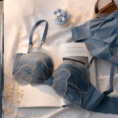 女士内衣胸罩和内裤套装七夕夏小薄裸感牌专柜舒适2021新款正品