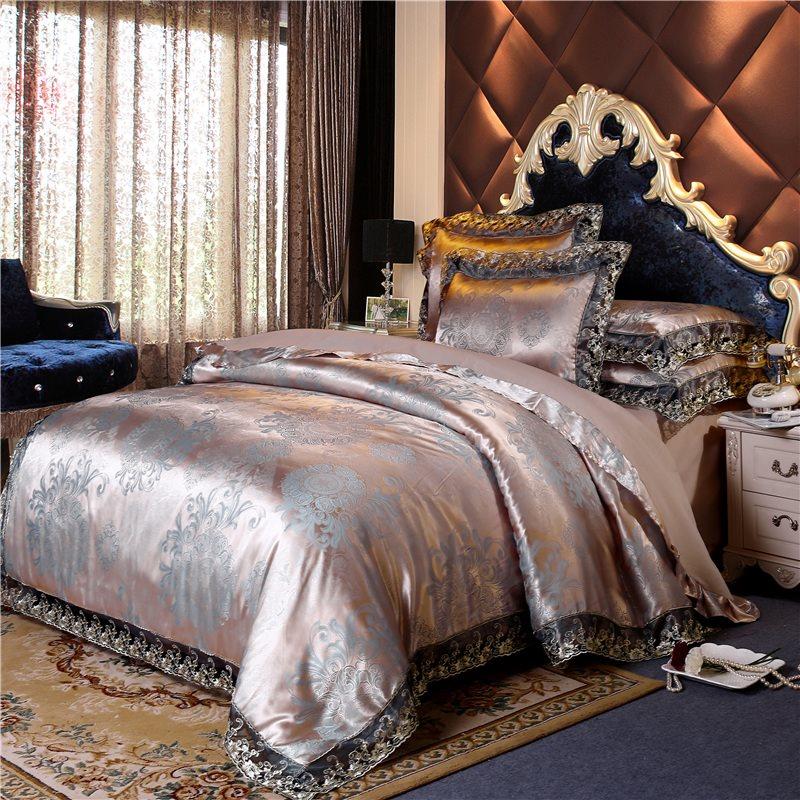 北欧风大提花婚庆床上用品四件套居家日用单双人床上用品