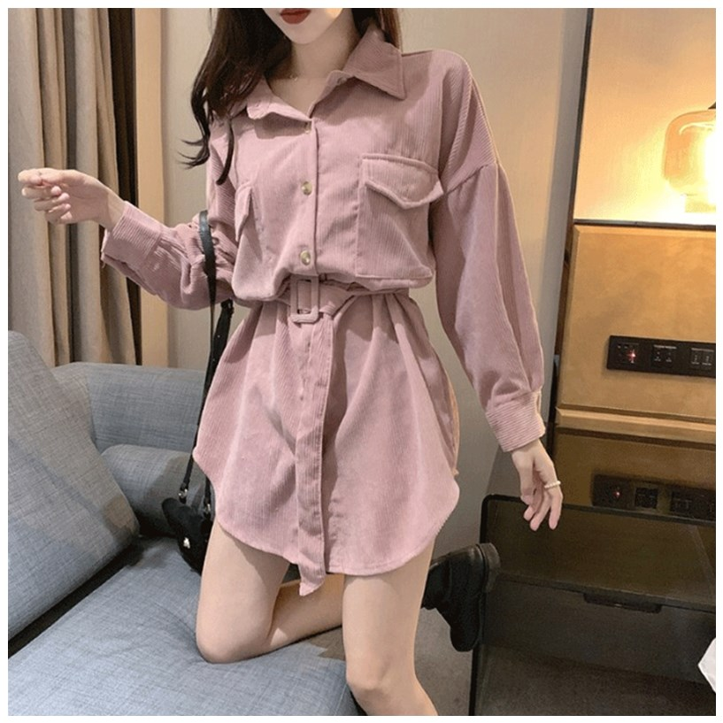 Spring shirt womens autumn and winter 2020 new design, foreign style and all-around wear fashionable and irregular bottoming waistband top