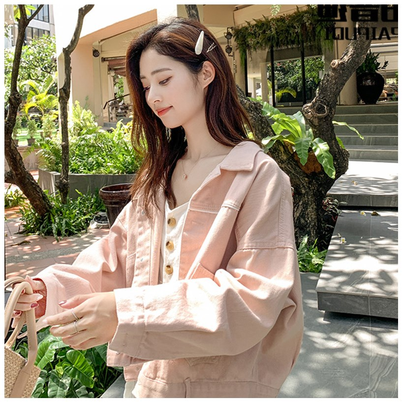 Spring and autumn Denim Short BF coat Korean loose salt retro Hong Kong Style New Womens fashion top in early spring 2020