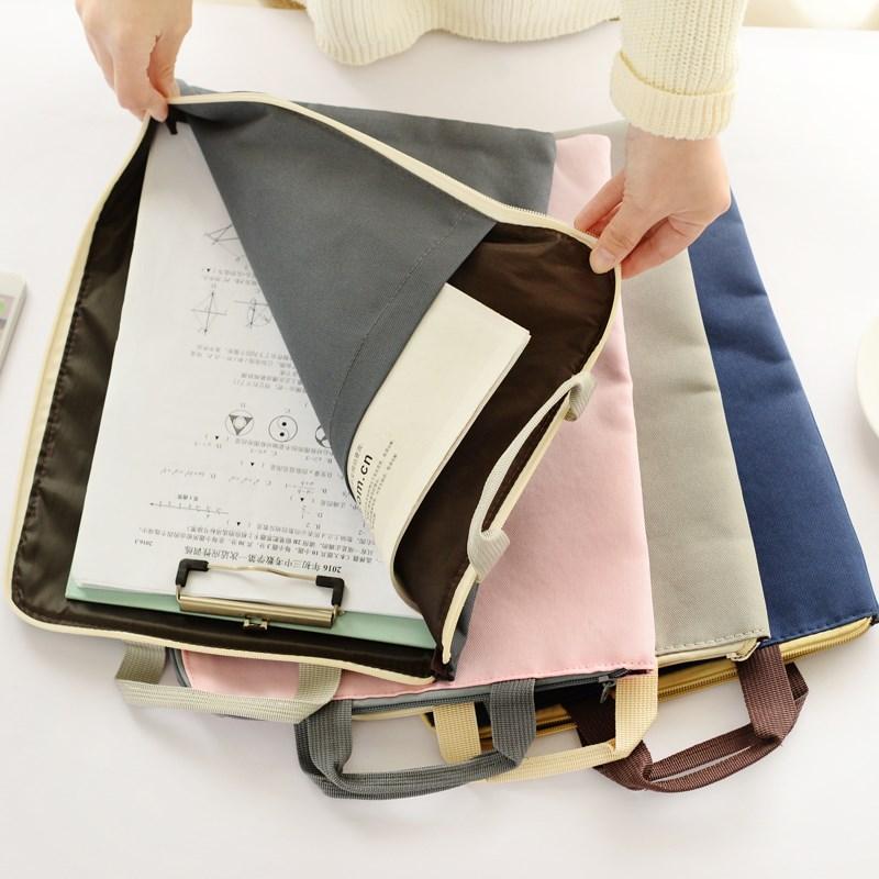学生A3特大号美术袋图画袋8k工程画收纳袋纽扣文件袋设计作品袋拉