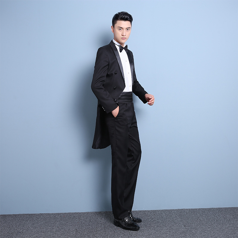 New tuxedo mens slim groom wedding dress mens suit suit conductors costume stage host