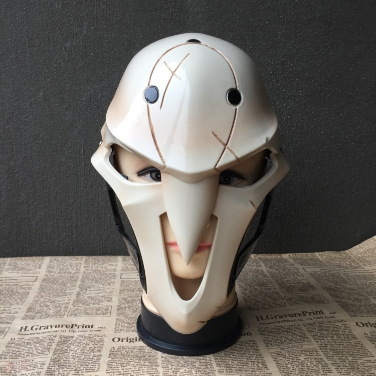 Shining charm death mask cos watch game role play pioneer Horror Halloween props party helmet