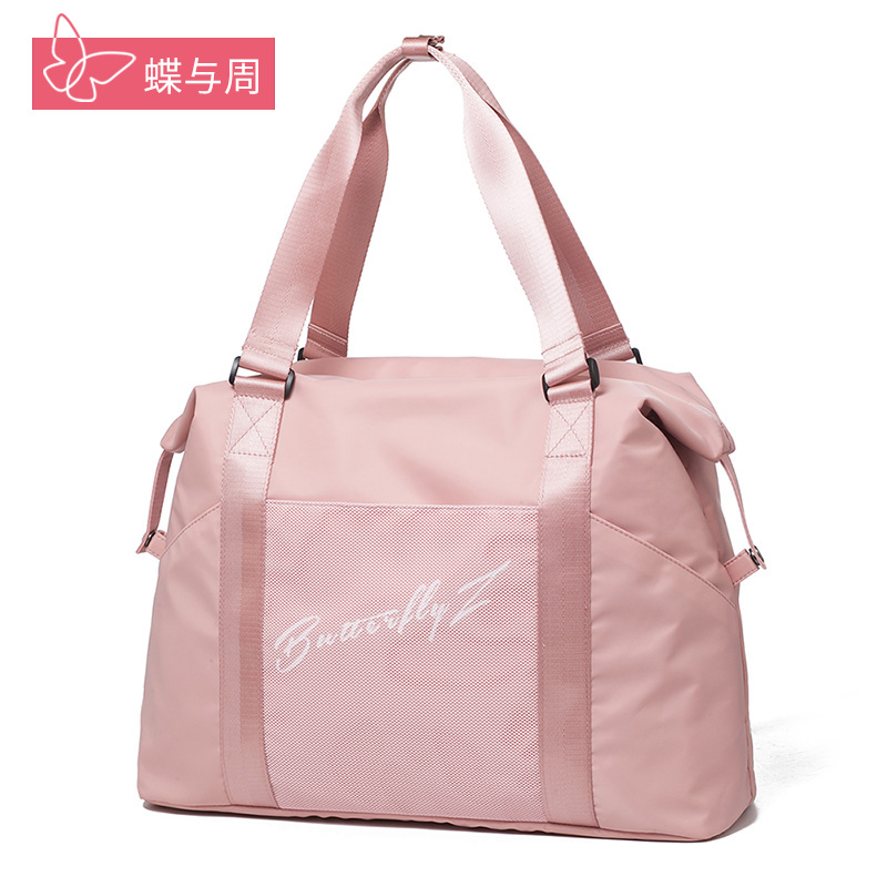 Short-distance travel bag female bag hand-made difference large-capacity lightweight sports fitness small luggage waiting to be produced travel storage bag