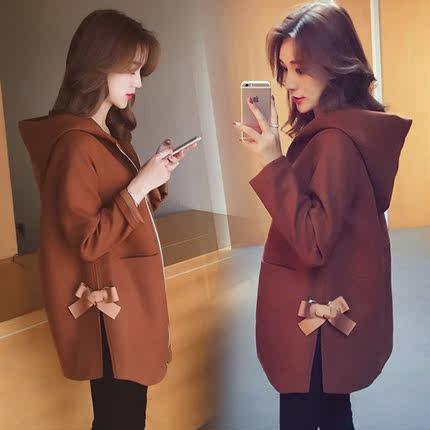 孕妇装秋装套装时尚款2018新款韩版外套潮妈显瘦上衣两件套秋冬季