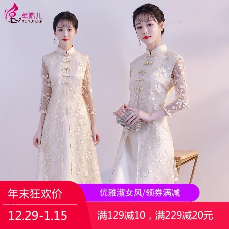 中国风旗袍改良版夏季2018新款女夏年轻小香风时尚改良少女连衣裙