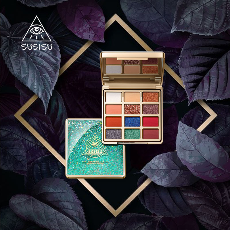 Official collocation susisu Sunsi Nu illusion, sand drift eye shadow disc girl ins net red naked makeup matte nude make-up