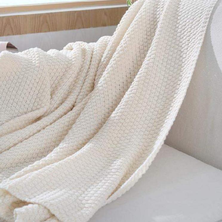 毛线编织午睡客厅毯被毯多功能亚麻