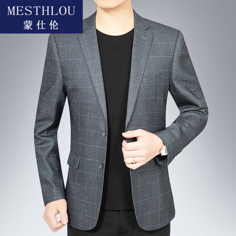 Casual suit mens new fall 2020 mens single small suit slim casual Western mens spring and autumn book jh0922