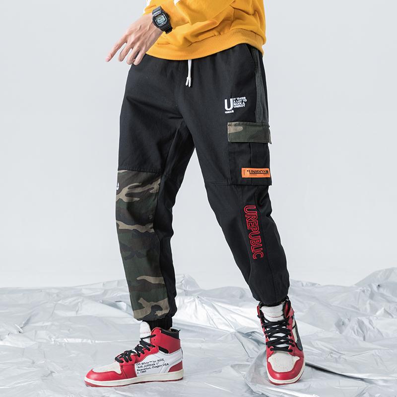 森官方旗舰店铺HM李宁361三福乔丹A21新款学生帅气男休闲工装裤