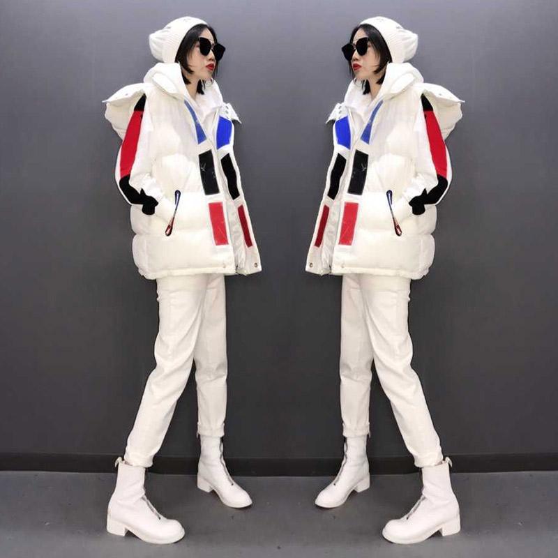 欧洲站女装2020年新款白色羽绒马甲女秋冬外穿百搭时尚外套欧货潮