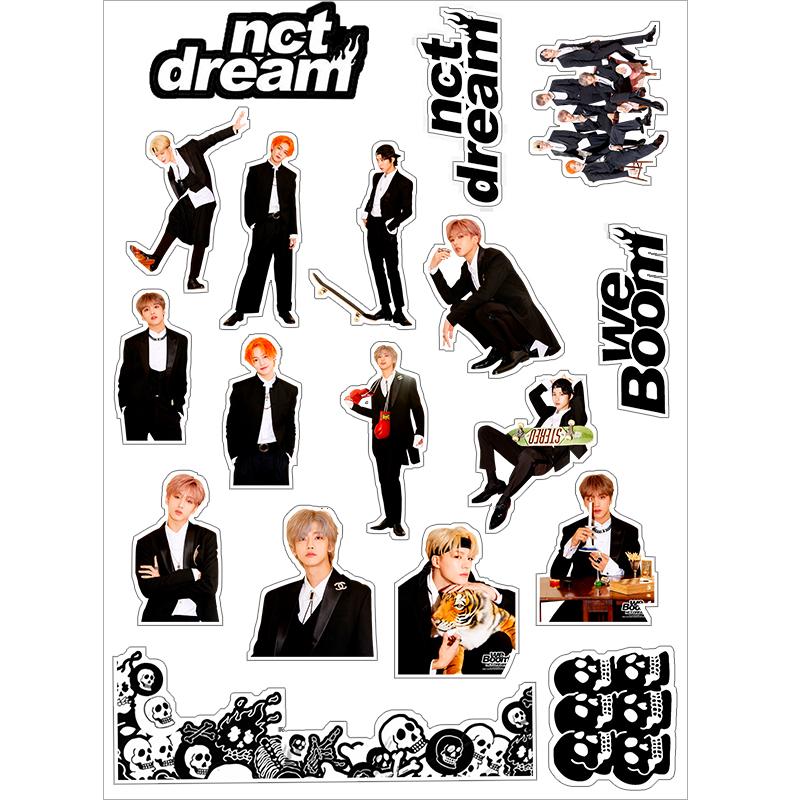 NCT DREAMミニ3 We Boom周辺携帯手帳のスーツケース用紙シール