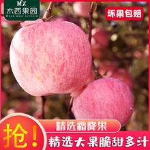 烟台苹果水果新鲜脆甜当季非冰糖心箱5斤10斤批发山东栖霞红富士