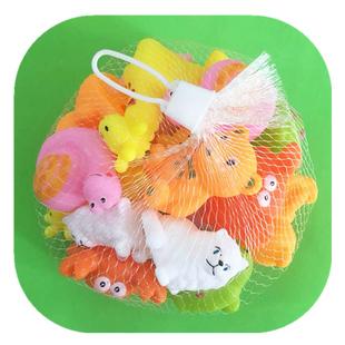 宝宝洗澡玩具男孩女孩捏捏叫软胶发声小动物小鸭子捏响婴儿玩具