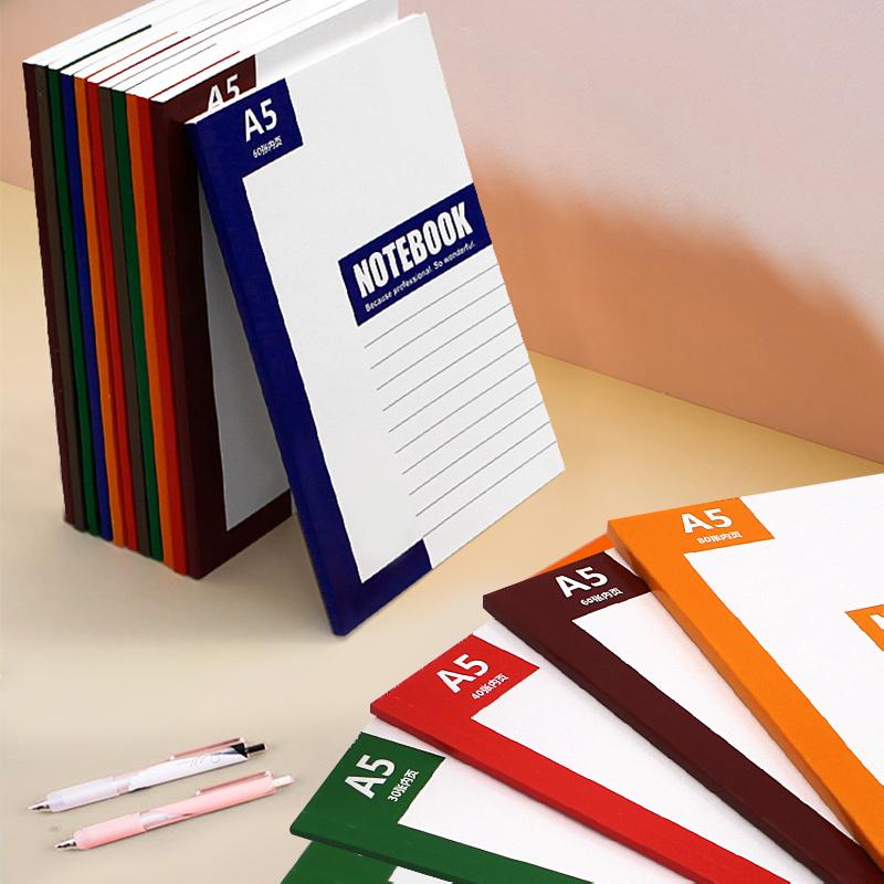 笔记本子A5记事本简约大学生用课堂笔记文具6商务办公用品7记事本