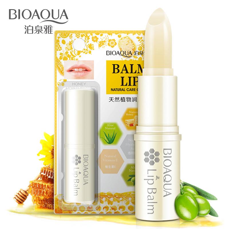 天然蜂蜜口油唇膏白色保湿滋润补水男女学生防裂孕妇不易掉色正品
