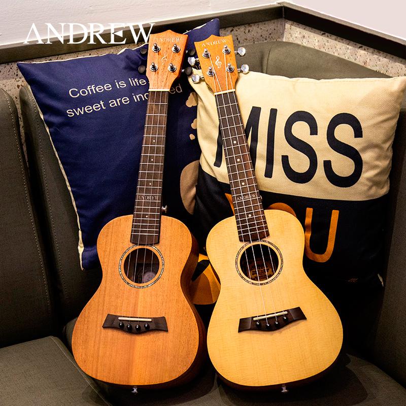 (用40元券)安德鲁23寸尤克里里 21寸面单单板乌克丽丽26ukulele夏威夷小吉他