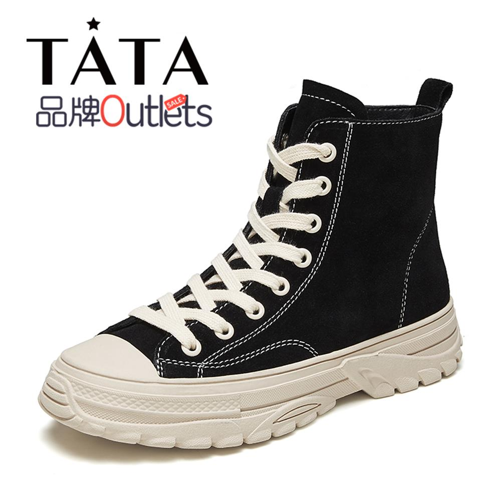 Clearance sale Tata he and she winter counter with the same strap round toe thick-soled casual women's boots WDN01DD9O