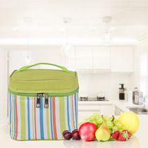Outdoor Picnic bag Square bento bag lunch box bag luncheon with rice bag striped oxford cloth portable insulation bag
