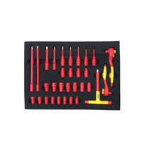 Shida Tools 68 New Energy Vehicle Repair Group set electrical insulated auto Repair machine combination set 09928