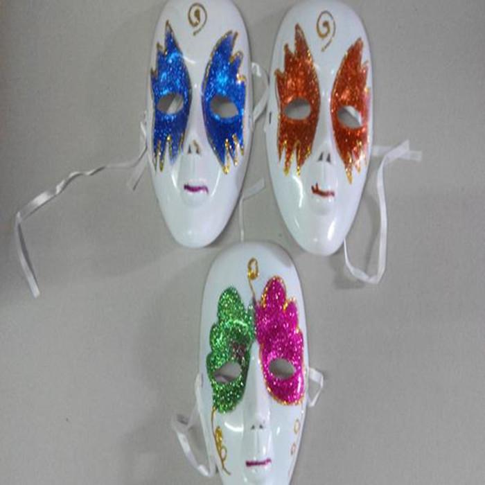彩色带金粉面具万圣节鬼节狂欢节面具面罩