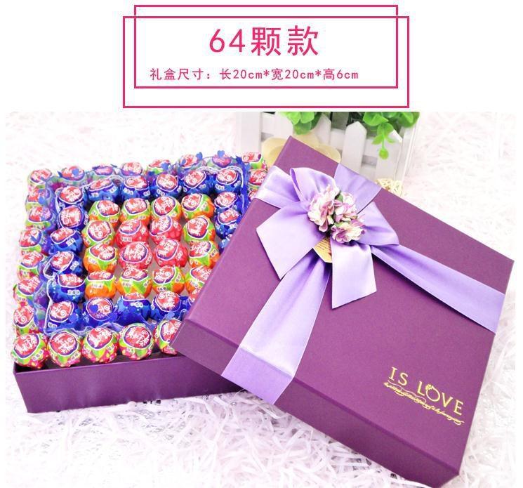 网红真知棒棒棒糖荔枝草莓味蓝莓香橙味礼盒装送女友男生日礼物情