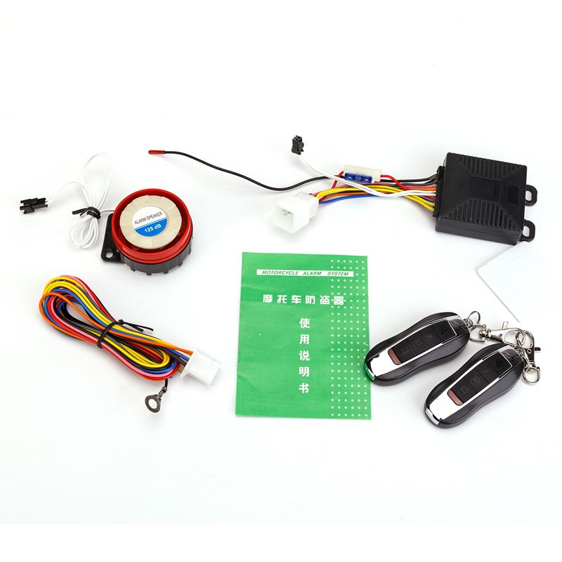 Bodyguard B338 motorcycle burglar alarm 12V practical alarm scooter remote ignition and flameout