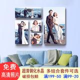 实木相框挂墙照片墙组合婚纱照相片放大全家福相框照片墙九件套
