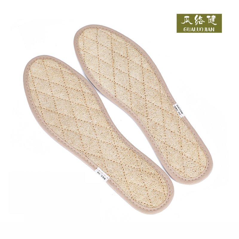 Handmade Natural towel gourd insole for men and women, breathable, sweat absorbing, deodorizing, antiskid comfortable shoes in summer, sports shoes, military training
