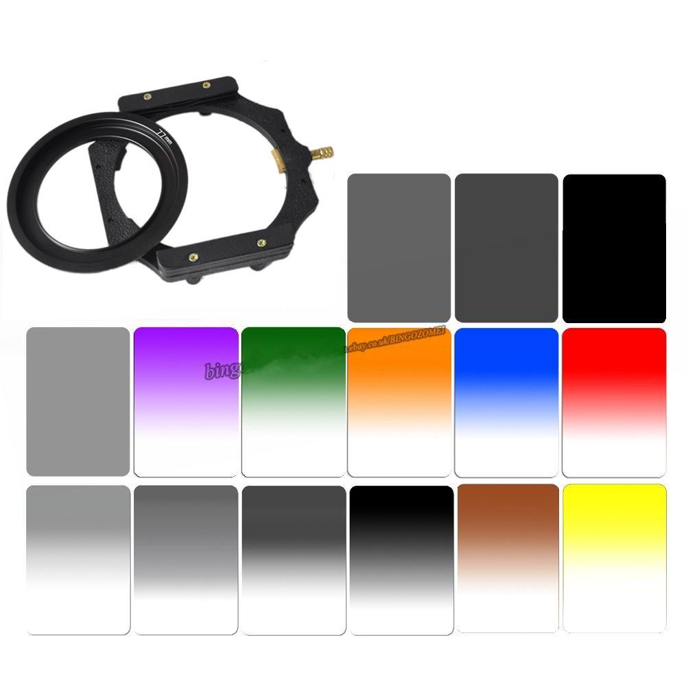 Promotion SLR camera 100x150mm square insert filter gradient mirror medium gray gradient mirror GND dimmer