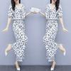 阔腿裤套装女2020新款夏季流行女装韩版时尚气质雪纺上衣两件套夏