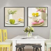 餐厅装饰画饭厅墙面装饰挂画厅厨房现代简约轻奢创意组合壁画