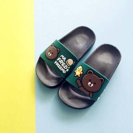 拖鞋男童夏宝宝时尚外穿小熊可爱韩版专用防滑软底塑料儿童宝宝夏