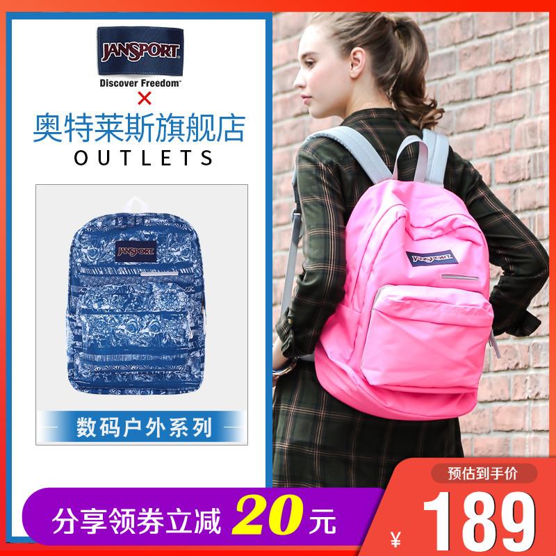 学院数码/JanSport杰斯伯T50F正品男女休闲双肩包3C数码专用背包