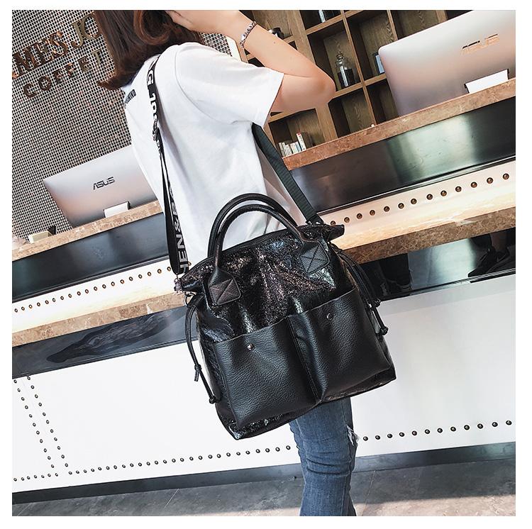 韓国版大包学院の百合森系シングルショルダーバッグの女性バッグのファッション色合わせ大容量斜めショルダーバッグのハンドバッグです。