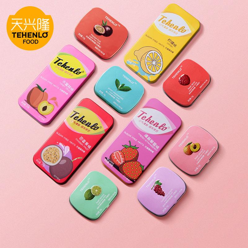 天兴隆无糖薄荷糖网红约会香体糖接吻糖清新口气口香糖零食6盒装
