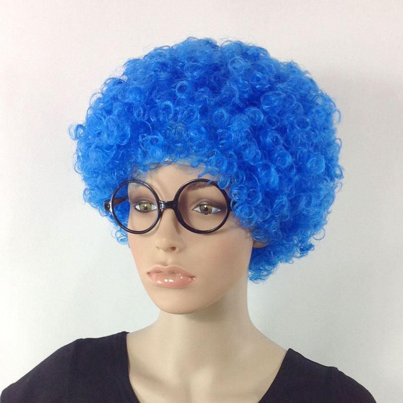 Headdress Brown banquet props yellow hair set drama activity explosion head wig sketch role play
