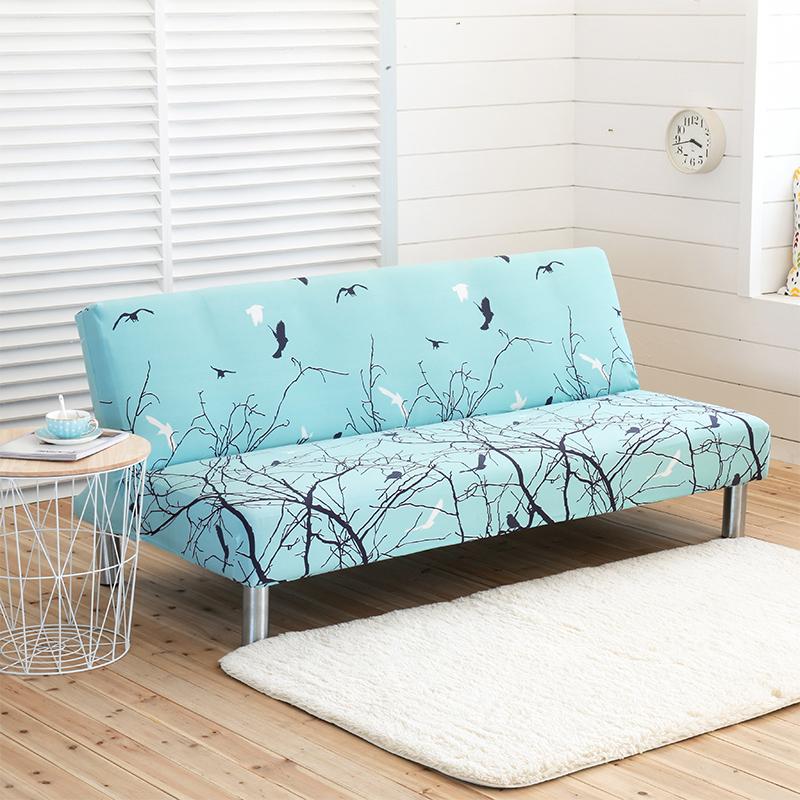 四季通用沙發床套摺疊無扶手彈力沙發套罩布藝沙發墊全包萬能套子