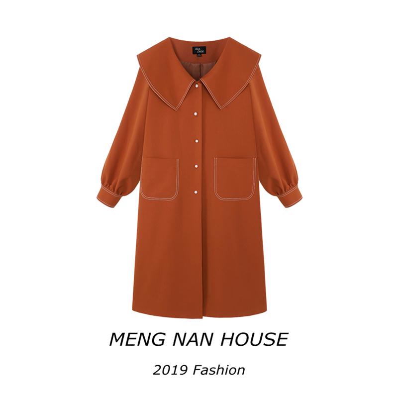 限10000张券夏大大胖mm时髦宽松大码秋季女装2019新款流行遮肉洋气减龄外套