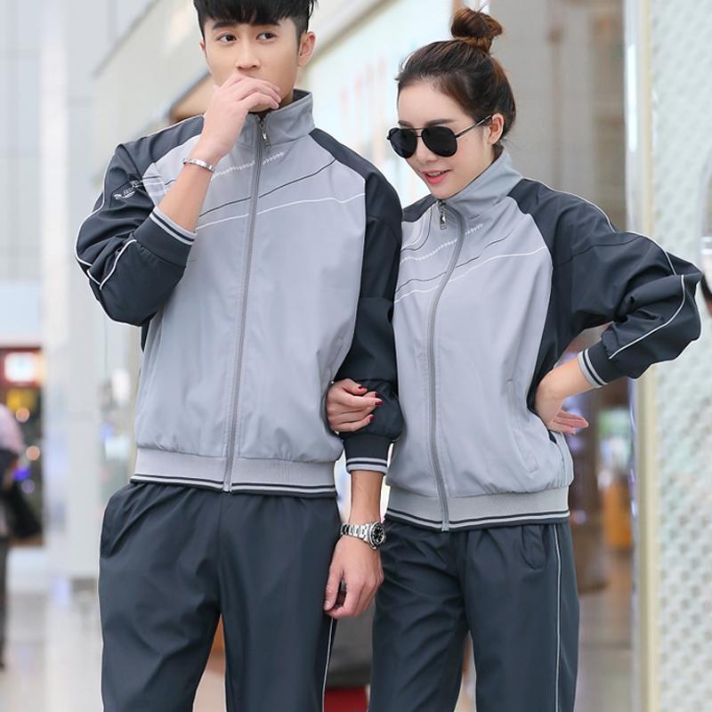运动套装男士春秋春型格女休闲跑步薄款青年情侣运动服两件套