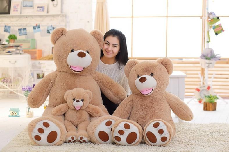 美国大熊毛绒玩具2.6米布朗熊泰迪熊生日礼品
