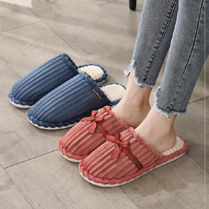 Womens shoes fashion winter mens slippers cotton winter thickening popular Plush indoor simple style late autumn home trend
