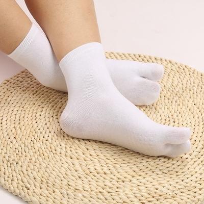 沖鉆促銷 @大拇指分開的襪子二指襪男女日式2分指兩指襪四季中筒