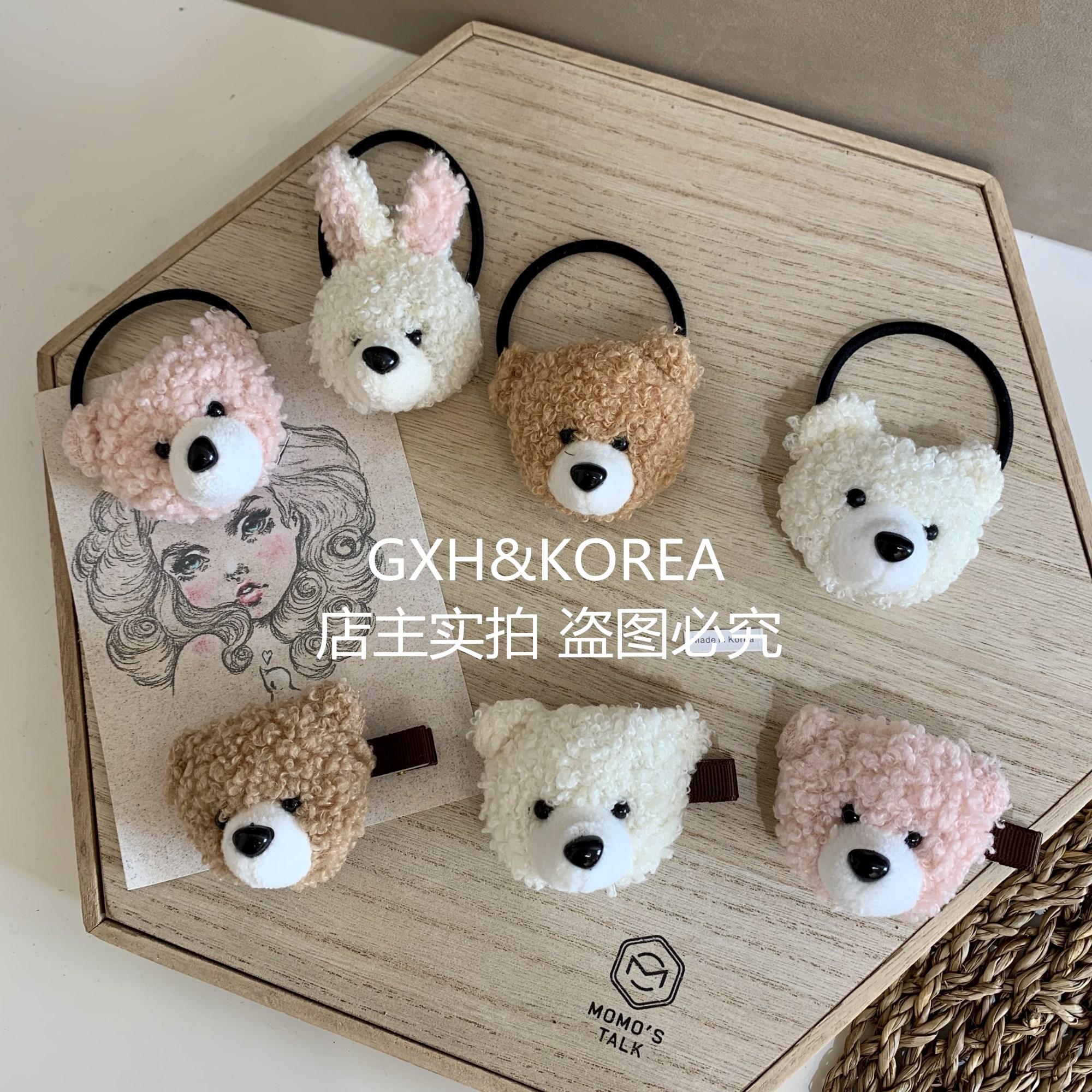 韩国东大门可爱羊羔毛毡女马尾头绳五折促销