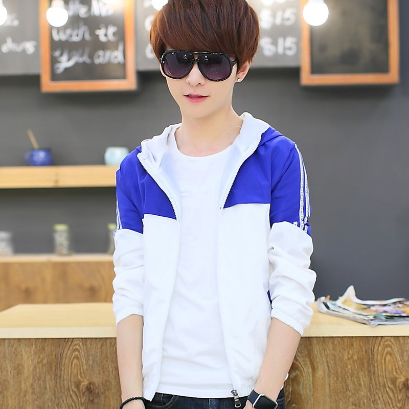 Junior high school students Datong mens summer sunscreen clothes sports coat boys youth hooded thin jacket cardigan clothes